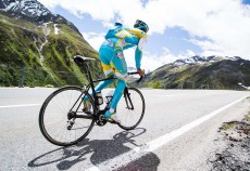 Roman Kreuziger, training Swiss Alps