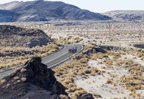 Specialized Ride to Vegas heading into Death Valley