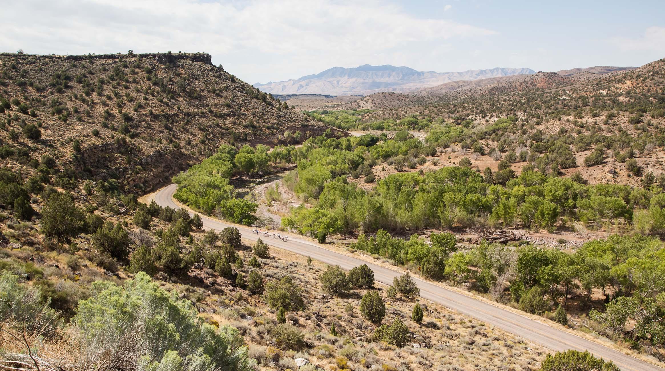 Riding into the Utah Desert on the Ride to Vegas