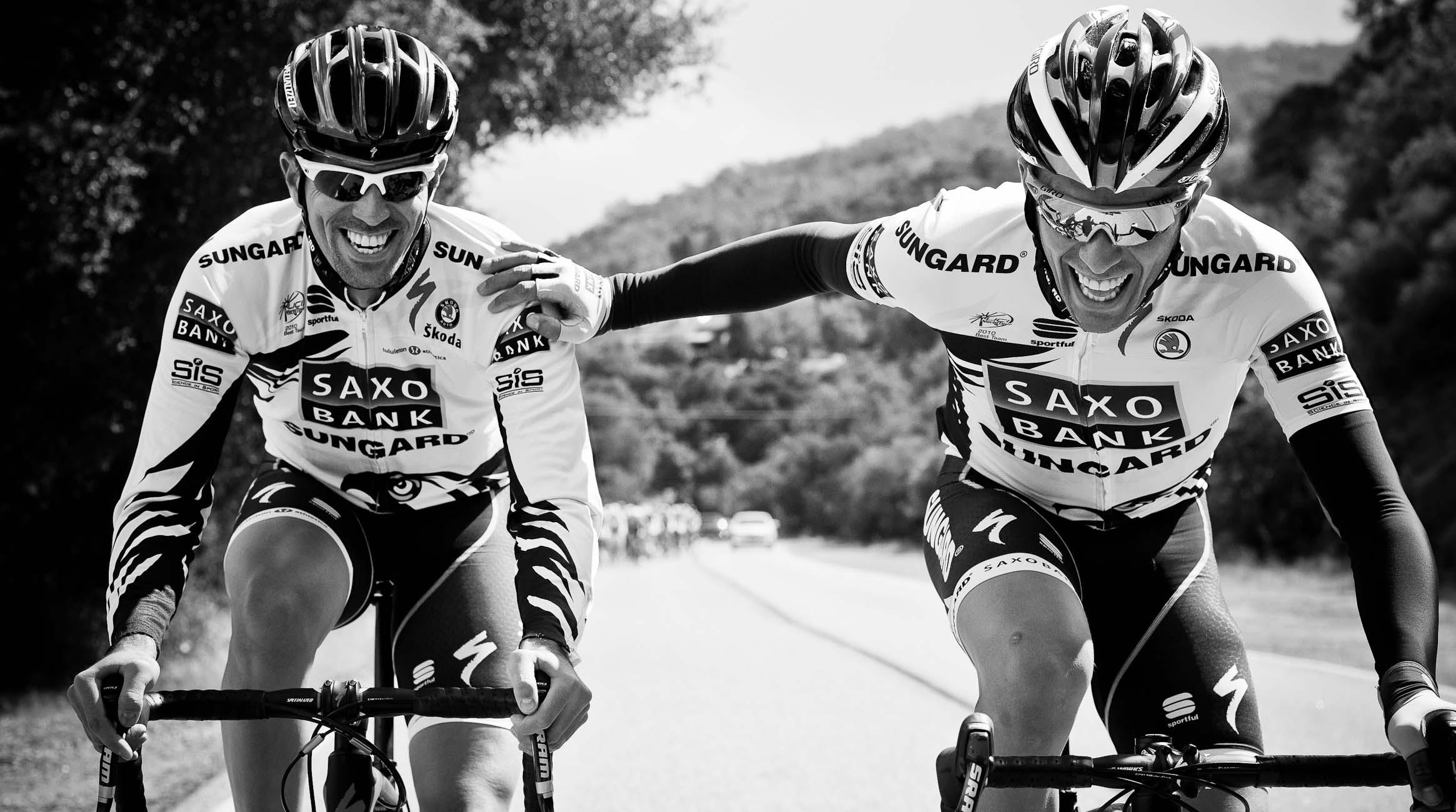 Alberto Contador and brother Fran
